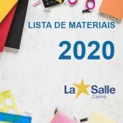 Lista de Materiais Escolar 2020