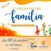 Venha para o 4º Encontro da Família do Programa EI