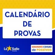 Calendários de Provas - 1º Trimestre