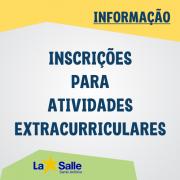 Inscrições para as Atividades Extracurriculares 2019