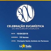 Amanhã ocorre Celebração Eucarística do Ano Jubilar
