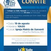 Celebração dos 60 anos do La Salle Xanxerê