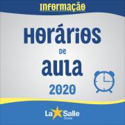 Disponíveis os Horários de Aula para 2020