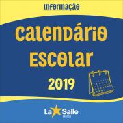 Calendário Escolar Letivo 2019