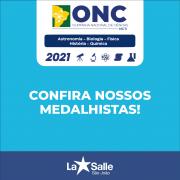 Alunos são medalhistas na ONC 2021