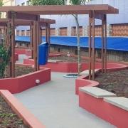 O novo espaço frontal do colégio
