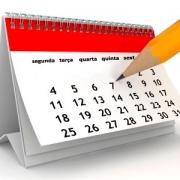 Calendário de Recuperações do 1º trimestre