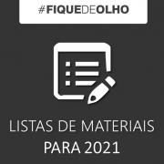 Listas de Materiais e Livros 2021