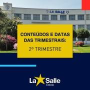 Conteúdos e Datas: Provas Trimestrais - 2º Trimestre