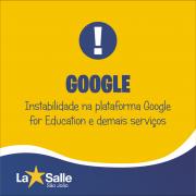 Instabilidade nos serviços Google