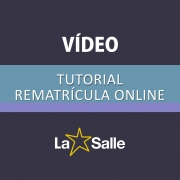 Vídeo Tutorial de Rematrícula Online