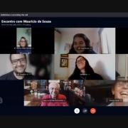 Alunos têm bate-papo virtual com Mauricio de Sousa