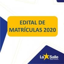 Confira o Edital de Matrículas 2020