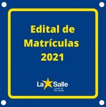 Edital de Matriculas 2021