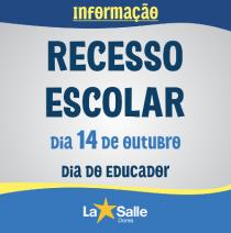 RECESSO ESCOLAR do Dia do Educador