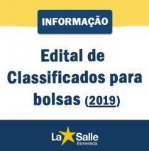 Candidatos Classificados para Bolsas 2019