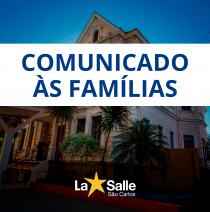 Comunicado às Famílias