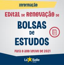Edital de RENOVAÇÃO de Bolsa Assistencial para 2021
