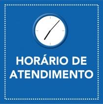 Alteração do horário de atendimento.