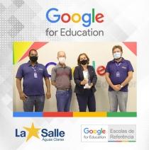 Recebemos o Troféu de Escola Referência Google