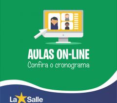 Cronograma de aulas on-line: EF II e Ensino Médio