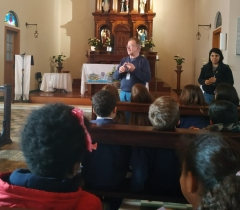 Visita dos 1°anos na Capela