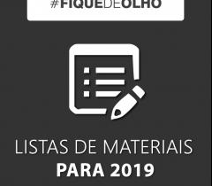 Listas de Materiais e Livros 2019