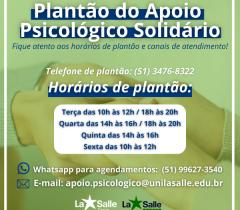 Plantão Apoio Psicológico Solidário
