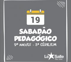 19/10: Sabadão Pedagógico de Atualização