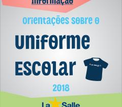 Orientações referentes ao uso do uniforme escolar
