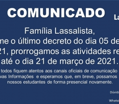 Comunicado à Família Lassalista