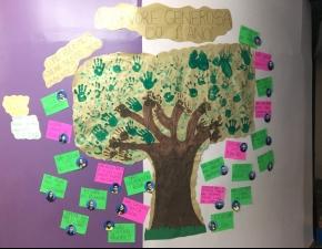 """""""Árvore Generosa do 1º Ano"""" é construída com a Turma no Turno Complementar"""
