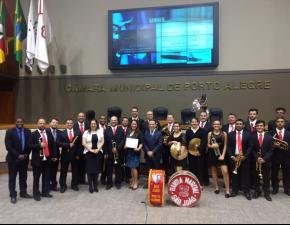 Banda Marcial é homenageada na Câmara Municipal