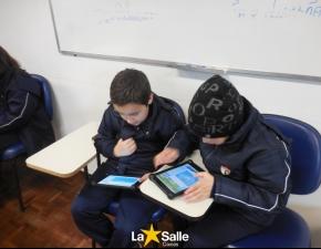 Alunos dos 3º anos aprendem Matemática com iPads!