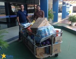 Donativos Arrecadados na Gincana são Entregues