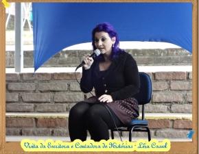 Visita da escritora Léia Cassol