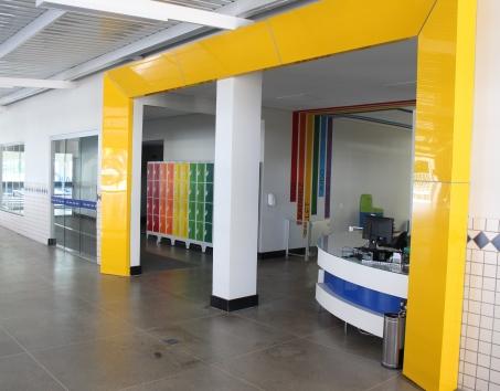 Entrada do Centro Esportivo